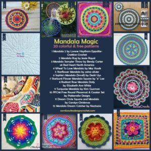 Mandala Magic 20 Colorful and Free Patterns Oombawka Design