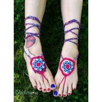 Memorial Mandala Barefoot Sandals Pattern