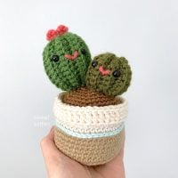Mommy and Baby Cactus Pattern Sweet Softies Featured at Free Pattern Friday
