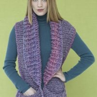 Perfect Pocketed Shawl Pattern LBY - Featured FPF ODC