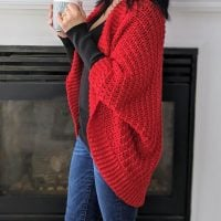 Ragged Falls Cocoon Cardigan Sincerely Pam - Featured at Free Pattern Friday