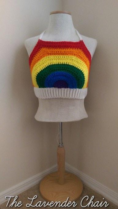Rainbow Crop Top - Free Pattern Friday