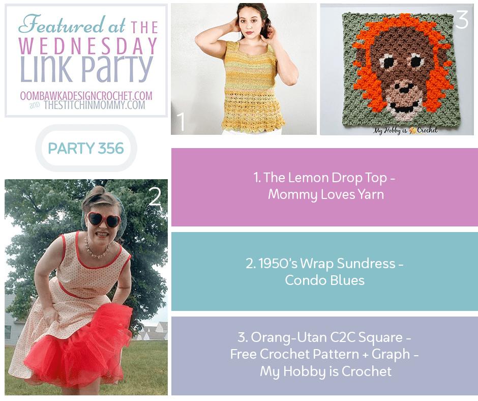 Wednesday Link Party 356 Features Lemon Drop Top - Vintage Sundress - C2C Square Instagram