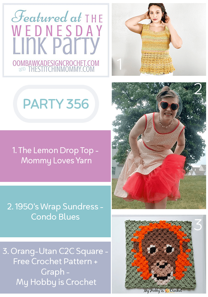 Wednesday Link Party 356 Features Lemon Drop Top - Vintage Sundress - C2C Square
