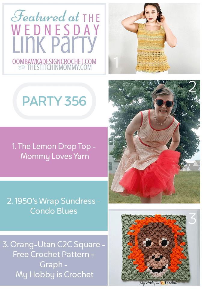 Wednesday Link Party 356 Features Lemon Drop Top - Vintage Sundress - C2C Square