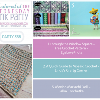 Wednesday Link Party 358 Through the Window Square - Quick Guide to Mosaic Crochet - Mariachi Doll