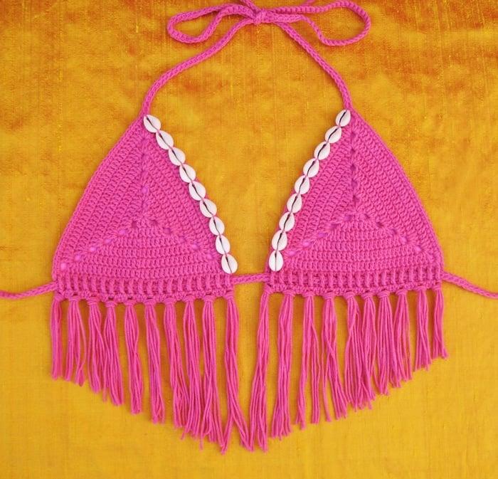 Sand Dollar Bikini Top Pattern - Free Pattern Friday