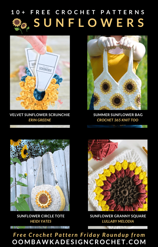 10 Free Crochet Sunflower Patterns Free Pattern Friday
