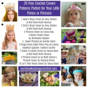 20 Free Crochet Crown Patterns Prince and Princess