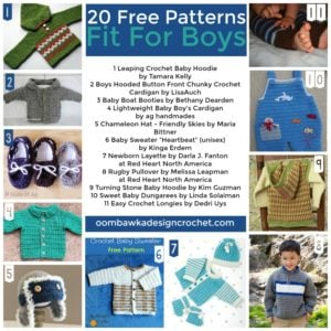 20 Free Patterns Fit For Boys. Boy Crochet Pattern Roundup. Oombawka Design Crochet.