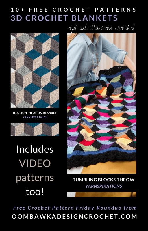 3D Crochet Blanket Patterns - Free Pattern Friday