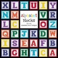 Alphabet Blocks Patterns and Graphs - Featured at Wednesday Link Party 359