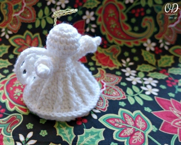 Christmas Angel Crochet Pattern, Amigurumi Christmas Angel ... | 561x700