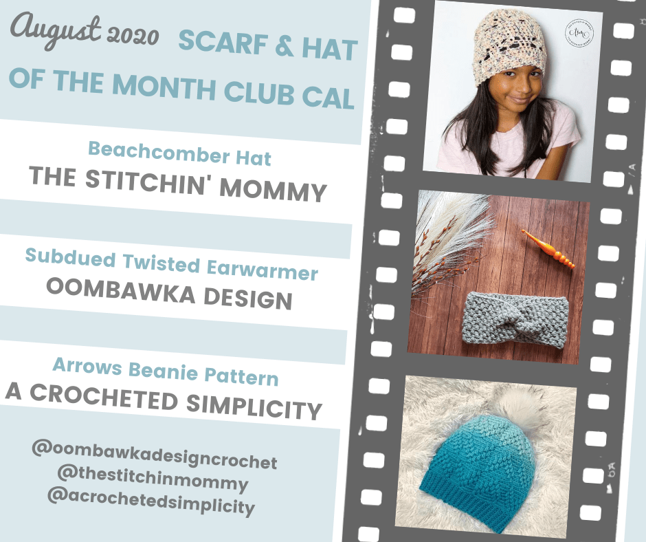 August Hat of the Month Club CAL Collage Square