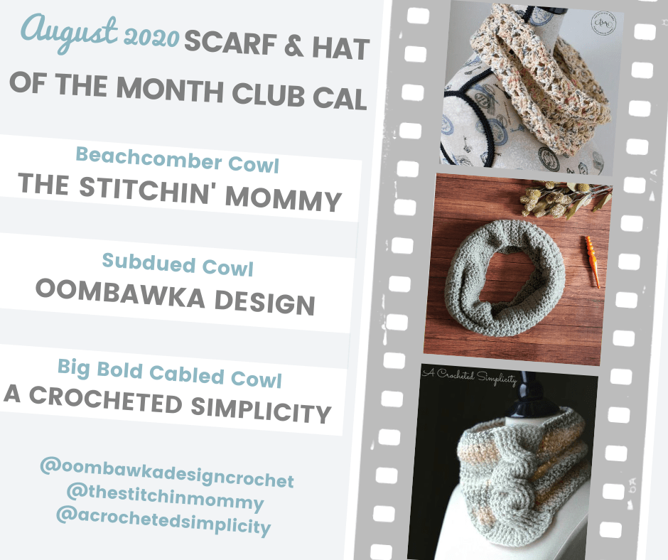 August CAL - Scarf of the Month Club 2020