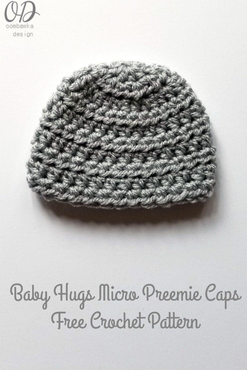 Baby Hugs Micro Preemie Caps - Free Crochet Pattern