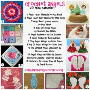 Crochet Angels 20 Free Patterns. Angel Pattern Roundup. Oombawka Design