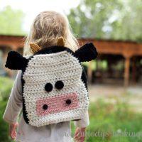 Crochet Cow Backpack Pattern FPF