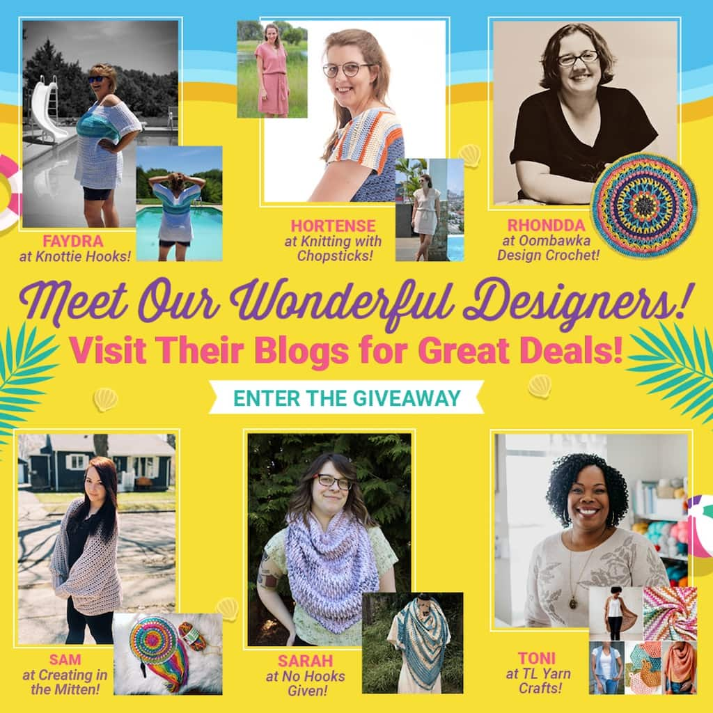 DESIGNERS Beach Party Blog Hop with Happily Hooked