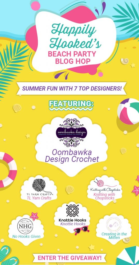 FEATURED Oombawka Design Crochet - Beach Party Blog Hop with Happily Hooked