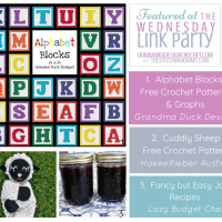 Featured at Wednesday Link Party 359 Alphabet Blocks Cuddling Sheep and Jam Recipes