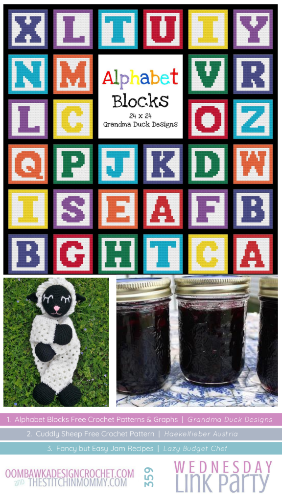 Features from Wednesday Link Party 359 Nostalgic Alphabet Blocks Cuddling Sheep and Jam Recipes