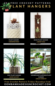 Free Plant Hanger Crochet Patterns at Free Pattern Friday