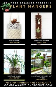 Free Plant Hanger Crochet Patterns at Free Pattern Friday