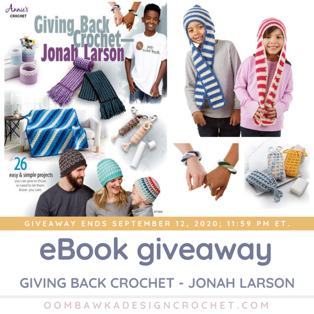 Giving Back Crochet by Jonah Larson eBook Giveaway ends Sep 12 2020 1159 pm ET