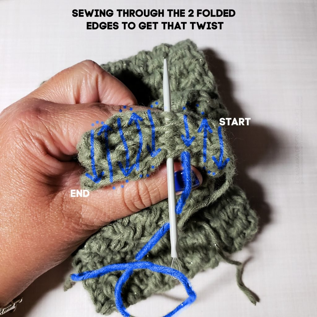 How to Sew the Edges on the Twisted Headband