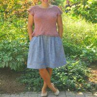 Knit Cullum Tee by Isabell Kraemer knit by Kiku Corner
