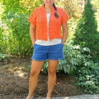 Knit Vine Lace Vest Featured at the Wednesday Link Party 362