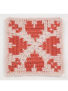 Square 1 - Waterfall Crochet Granny Squares