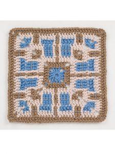 Square 13 - Waterfall Crochet Granny Squares