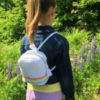 Striped Mini Backpack Pattern FPF
