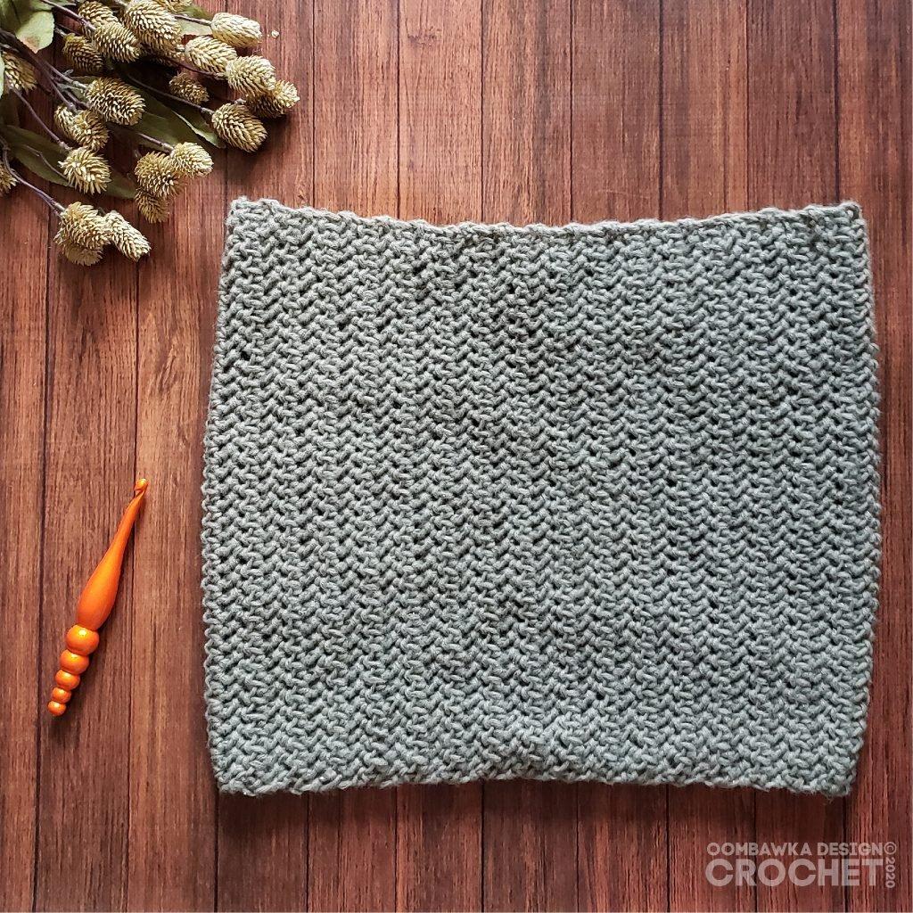 Subdued Cowl Oombawka Design Crochet #scarfhatofthemonthclub2020 August