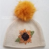 Sunflower Beanie Pattern Featured at Free Pattern Friday