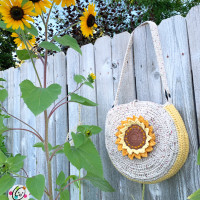 Sunflower Circle Tote Pattern