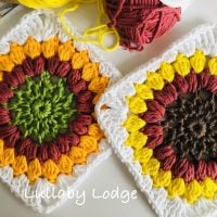 Sunflower Granny Square Pattern Featured at Free Pattern Friday