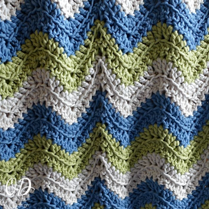 Tranquil Waves Ripple Blanket Square