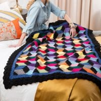 Tumbling Blocks Throw Yarnspirations Featured Free Pattern Friday