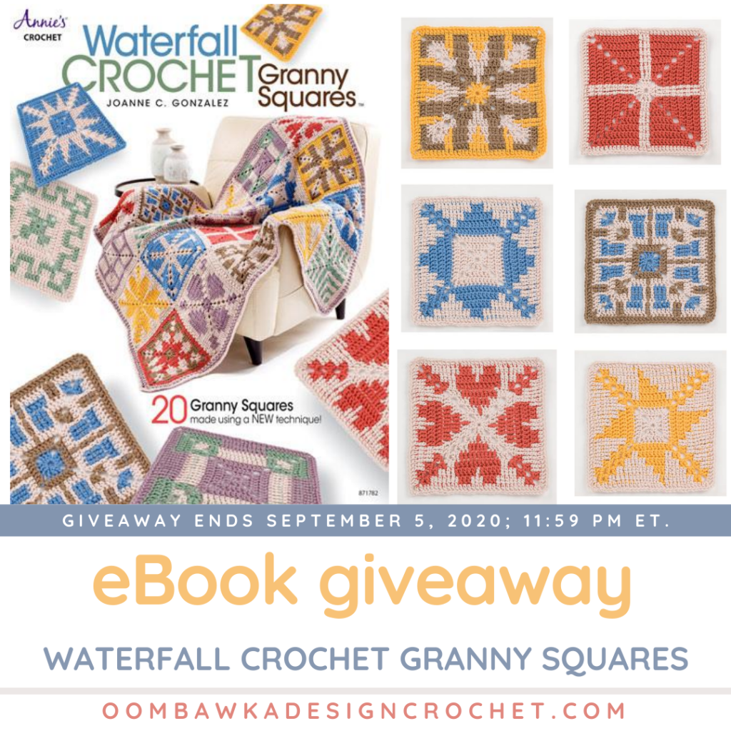 Waterfall Crochet Granny Squares Giveaway ends September 5 2020 1159 pm ET