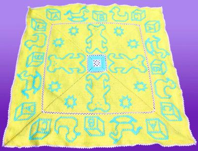 Baby Toys Afghan by Shady Lane Original Crochet Designs
