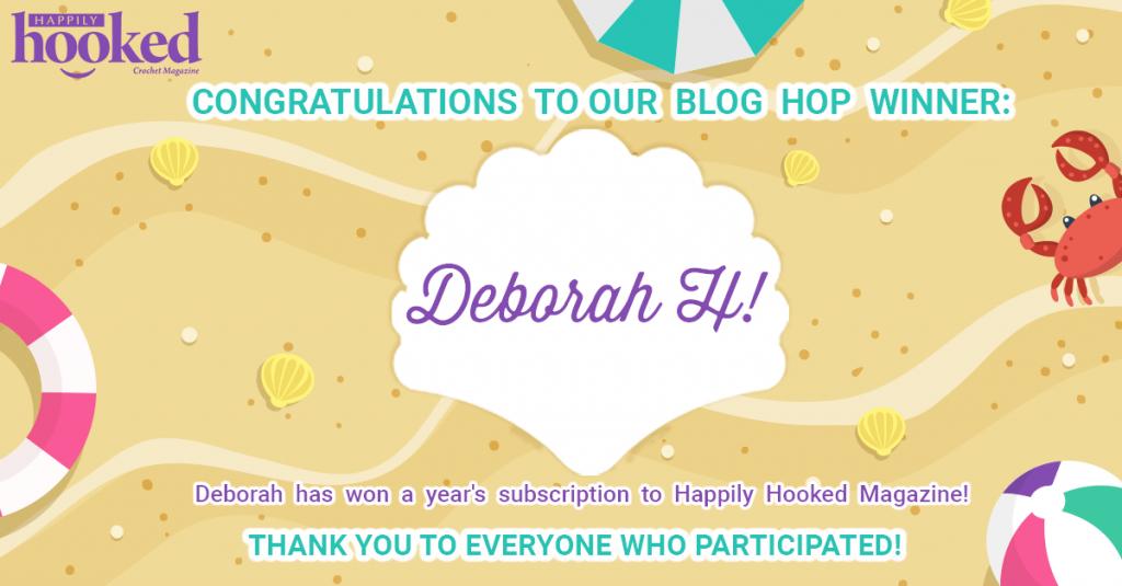 Blog Hop Winner Deborah H