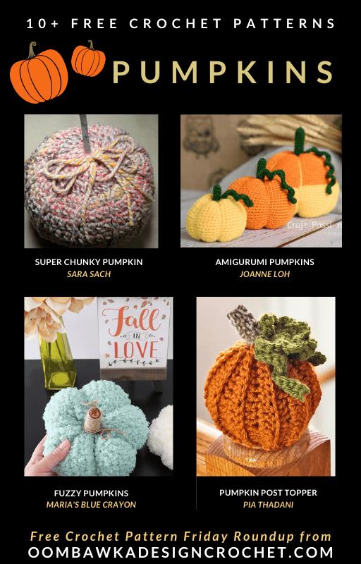 10 Free Crochet Pumpkin Patterns - Free Pattern Friday