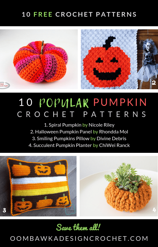 It\'s time to decorate for Fall! Here are 10 popular pumpkin crochet patterns you can make to get your home and office ready for Autumn. Choose from pumpkin pillows, pumpkin toys, pumpkin wall hangings and even pumpkin bracelets!