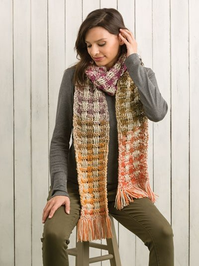 Woven Scarf - Two-by-Two Crochet