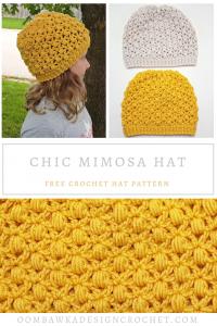 Free Chic Mimosa Crochet Hat Pattern