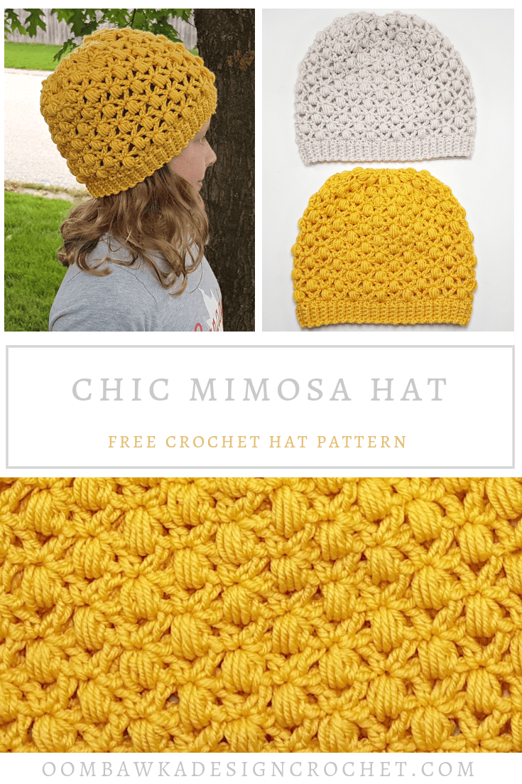 Chic Mimosa Crochet Hat Pattern from Oombawka Design Crochet PIN 2