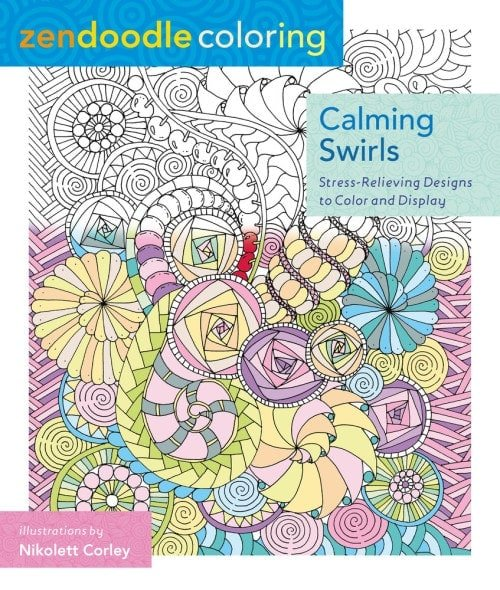 Zendoodle Coloring Calming Swirls | SMP Book Review | oombawkadesigncrochet.com